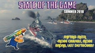 World of Warships State of the Game Summer 2018 - Radar Causing a Meta Shift