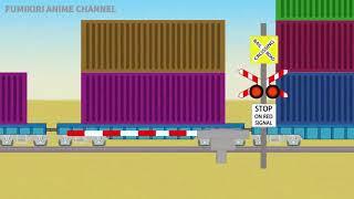 サウジアラビアのふみきり Various Railroad Crossing and train. railway level crossover. 踏切 踏み切り 電車 ふみきり アニメ 列車