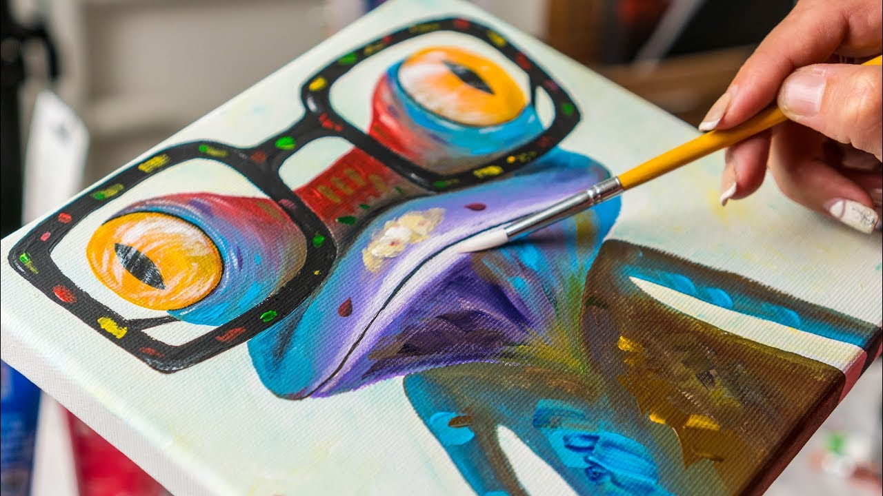 Colorful Crazy Frog Acrylic Painting Homemade Illustration Youtube