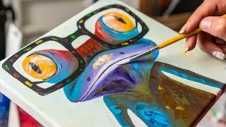 Colorfull Crazy Frog - Acrylic painting / Homemade Illustration (4k)