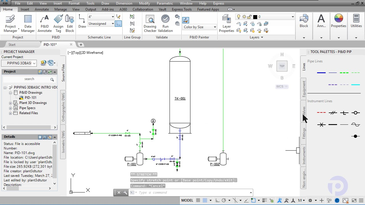PID INTRO COURSE PIPING 3D BASIC WITH AUTOCAD PLANT 3D