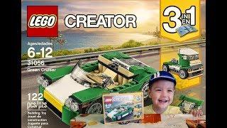 Обзор Лего Creator Зелёный кабриолет Lego Creator Green Cruiser  31056 3in1