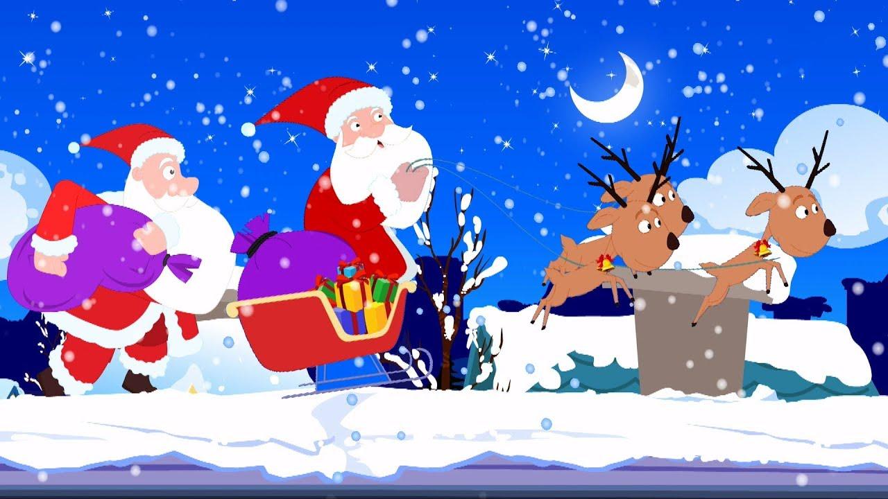 Papai Noel Descer Pela Chamine Natal Cancoes Festival Cancao