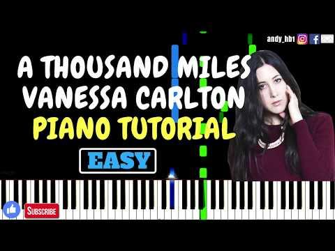 A Thousand Miles  Vanessa Carlton  EASY Piano Tutorial  Sheetmusic