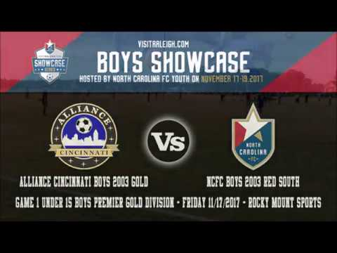 2017 visitRaleigh.com Boys Showcase Game 1 | Alliance Cincinnati B03 Gold Vs NCFC Boys Red South