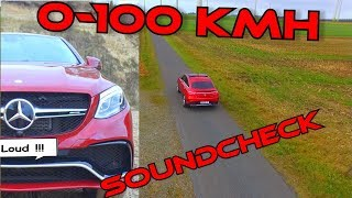 Mercedes-Benz GLE 63s AMG Soundcheck 0 - 100 kmh High Quality