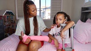 Girl BREAKS Leg, SHE DIDN'T LISTEN | D.C.'s Family