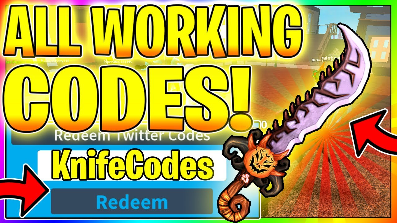 All New Murder Mystery 3 Secret Codes Free Knife Codes