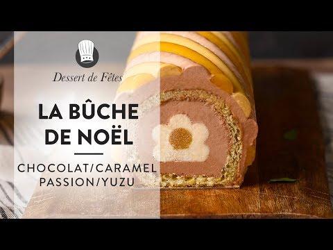 recette-inédite-de-bûche-de-noël-:-la-bûche-chocolat/caramel/passion/yuzu-d'arnaud-montrobert-!