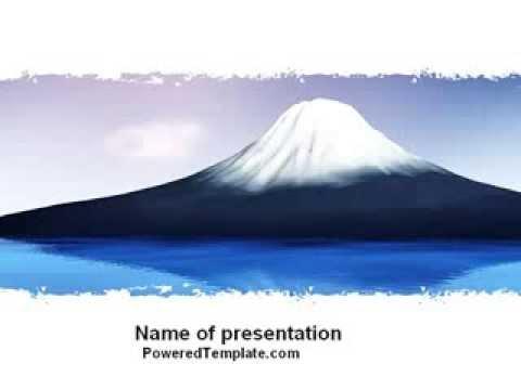 Mount fuji powerpoint template by poweredtemplatecom youtube for Poweredtemplate