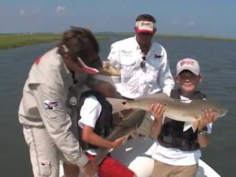 Carolina fishing tv season1 2 redfish the kids youtube for Carolina fishing tv