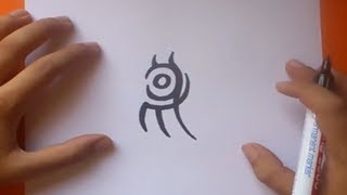 Como dibujar un tribal paso a paso | How to draw one tribal