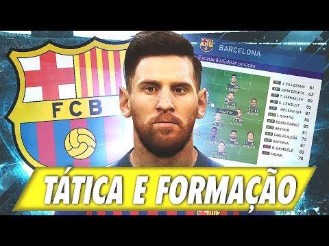 [DICAS] PES 2019 - A MELHOR TÁTICA E FORMAÇÃO BARCELONA /  BEST FORMATION, BEST TACTICS BARCELONA