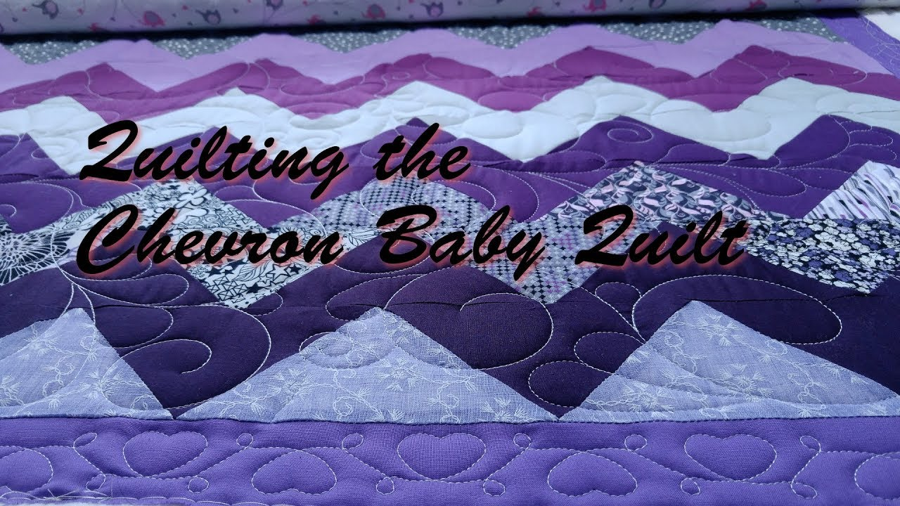 Quilting The Chevron Baby Quilt Youtube