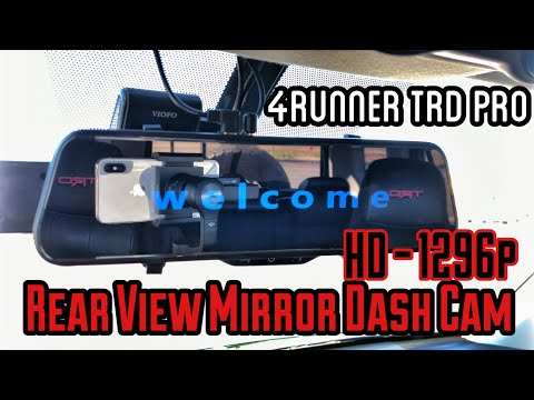 【45】Rear View Mirror Dash Cam 1296p For Tire Swing Mount | 5th Gen 4Runner Mod [4K]