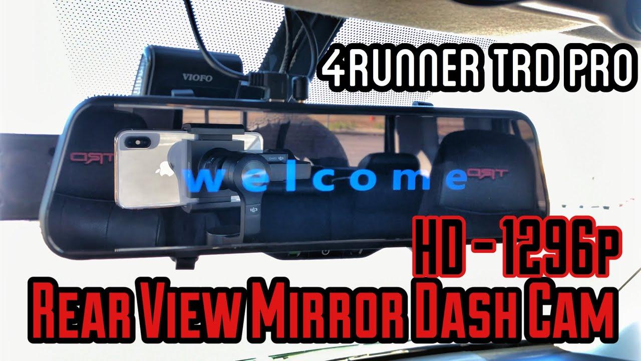 rear view mirror dash cam p  tire swing mount  gen runner mod  youtube