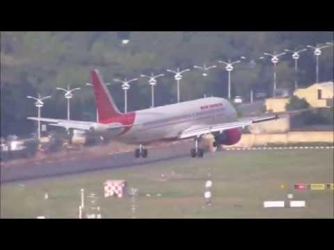 Air India Airbus A320 lands at Chennai Airport