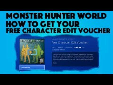 Character edit voucher monster hunter world pc | Need A