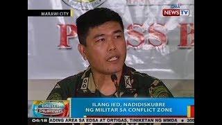 BP: Ilang IED, nadidiskubre ng militar sa conflict zone sa Marawi City