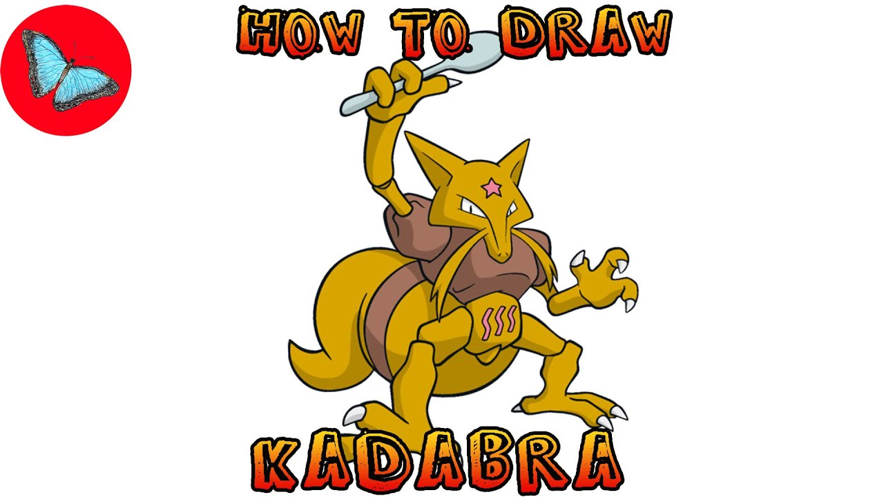 How To Draw Pokemon Kadabra Drawing Animals Youtube