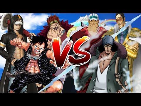 Luffy, Law & Kid VS Akainu, Kizaru & Aokiji - One Piece Song Đấu