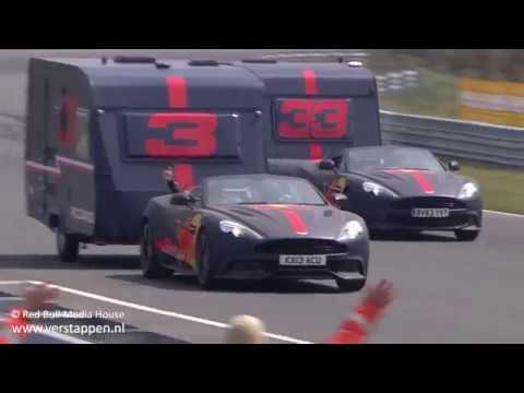 Max Verstappen & Daniel Ricciardo - Red Bull Caravanrace - Jumbo Racedagen 2018, Circuit Zandvoort