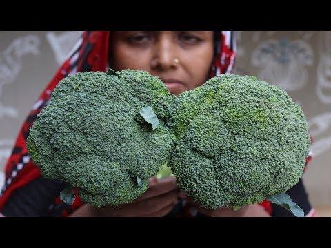 Village Food Farm Fresh Broccoli Recipe Village Style Delicious fresh broccoli & carrot fry cooking