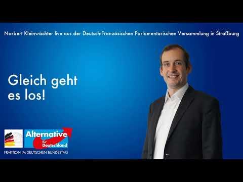 Live von der Deutsch-Französischen Parlamentarischen Versammlung