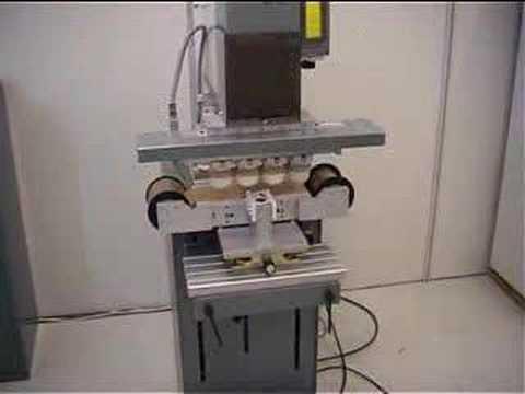 microPrint MS-250 4 color Pad printer with pad slide