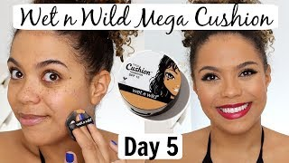 Wet n Wild Mega Cushion Review/Wear Test | 12 DAYS OF FOUNDATION DAY 5