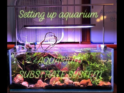 Aquarium Substrate System - Aquascaping 20 Gallons Long Rimless Aquarium (part 1) - Fish Tank