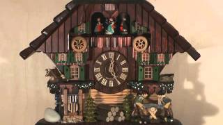 Cuckoo Clock 8-day-movement Chalet-style 45cm By Hekas