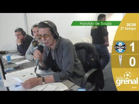 Grêmio e Universidad Católica - Gol narrado por Haroldo de Souza - Libertadores 2019 - Rádio Grenal