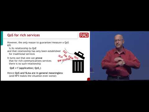 MEF17 - Yaakov Stein, RAD: QoS For Rich Communications Services