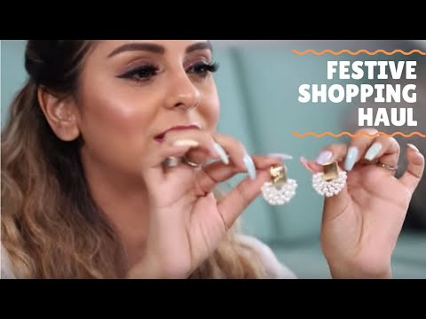 GIVEAWAY +  HUGE FESTIVE SHOPPING HAUL | ACCESSORIES + INDIAN WEAR