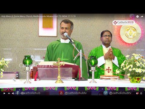 Holy Mass @ Divine Mercy Church, Madhinaguda, Miyapur,Hyd, TS, INDIA 17 11 19