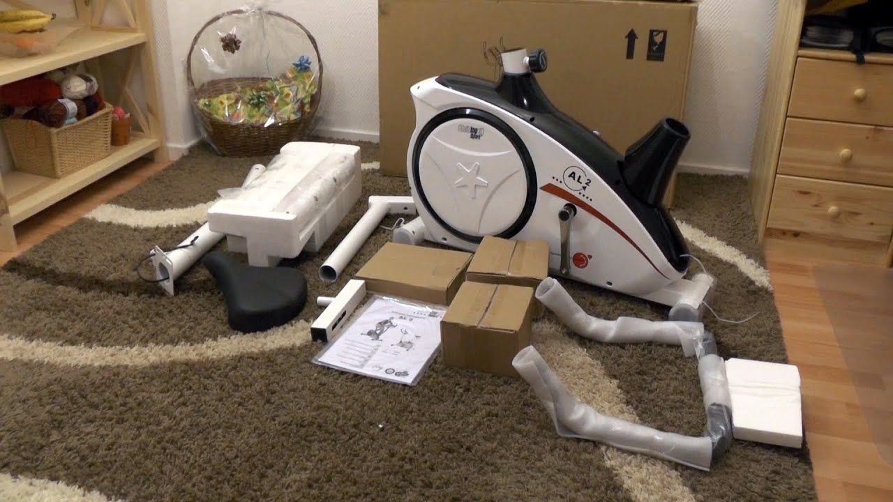 Exercise bike (home trainer) unboxing and constructing - Christopeit AL 2  (Heimtrainer Ergometer)