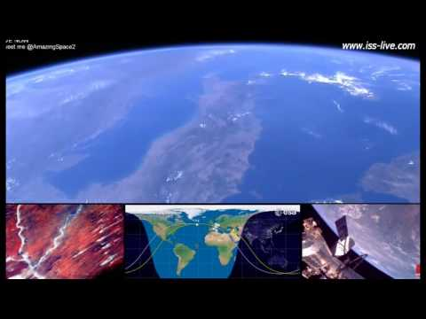Earth From Space - ISS Live Stream video - From Europe to the Middle East 22nd August
