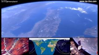 Earth From Space   ISS Live Stream video   From Europe to the Middle East 22nd August
