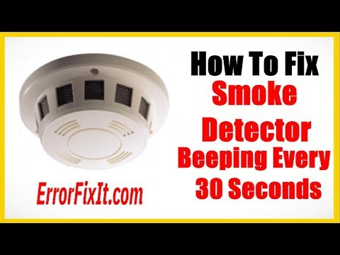 Smoke Detector Beeping Every 30 Seconds How To Fix It Youtube