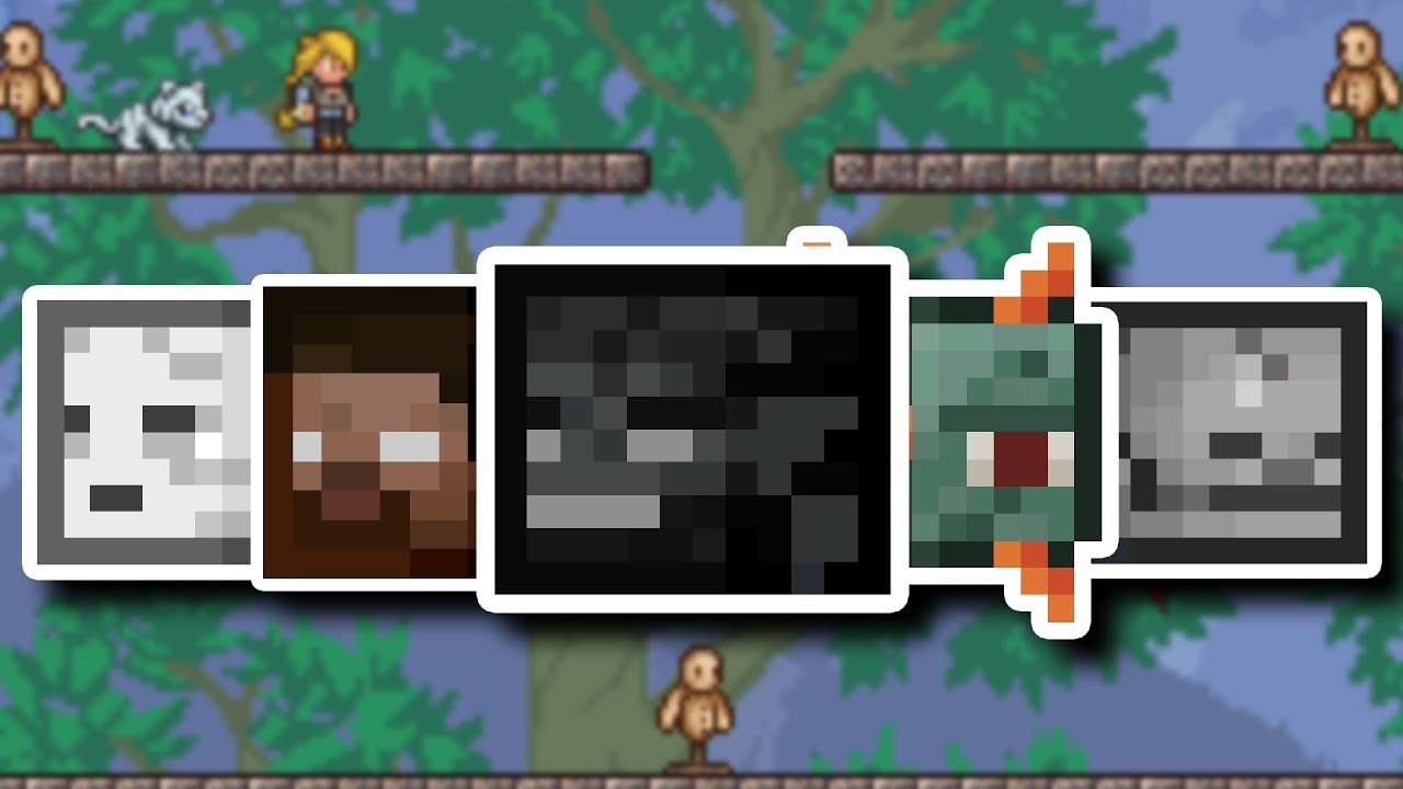 This Terraria mod adds in more MINECRAFT STUFF?!?