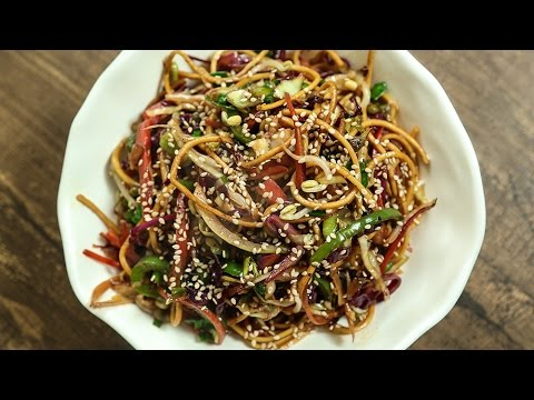 Vegetable Hakka Noodles Recipe | Indo Chinese Recipe | The Bombay Chef - Varun Inamdar