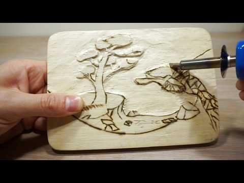 Wood Carving Project [+Pyrography]