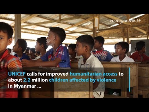 UN urges better humanitarian access for Myanmar's children