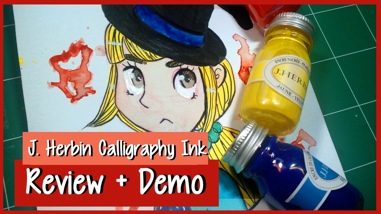 J Herbin Calligraphy Ink Review Demo Inktober Day