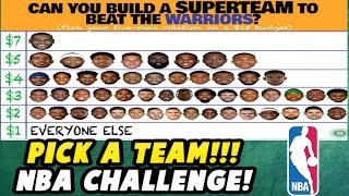 PICK A TEAM!! CAN YOU BEAT THE GOLDEN STATE WARRIORS? SQUAD BUILDER CHALLENGE! NBA 2K17 MY LEAGUE