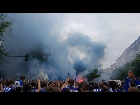 Berlin Vs. Leipzig -- Und der Sieger des Tages sind wir Fans von HERTHA BSC!! (Marsch+Kurve)