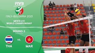 LIVE 🔴 THA vs. MAR - Round 2   Men's U21 Volleyball World Champs 2021