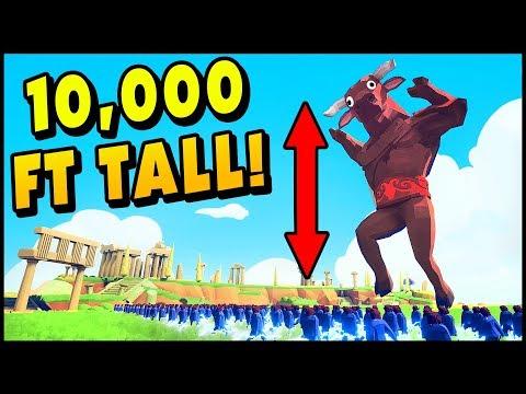 TABS Mods - 1,000,000 FT TALL MEGA GOD MINOTAUR! - Totally Accurate Battle Simulator
