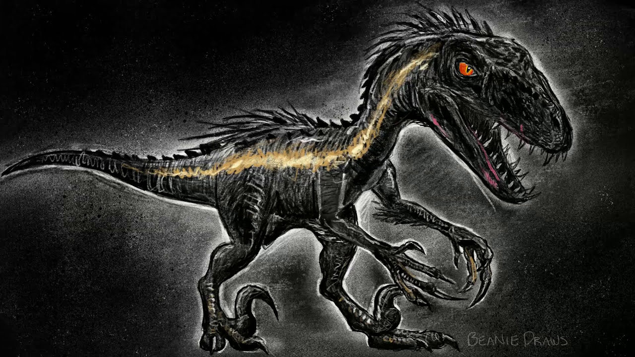 Drawing A Cartoon Indoraptor From Jurassic World Fallen
